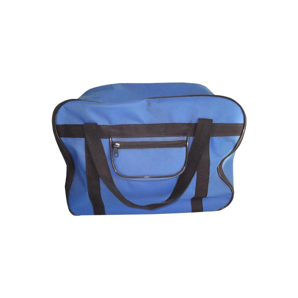 Bolsa Portatil Azul De Nylon Com Pezinho