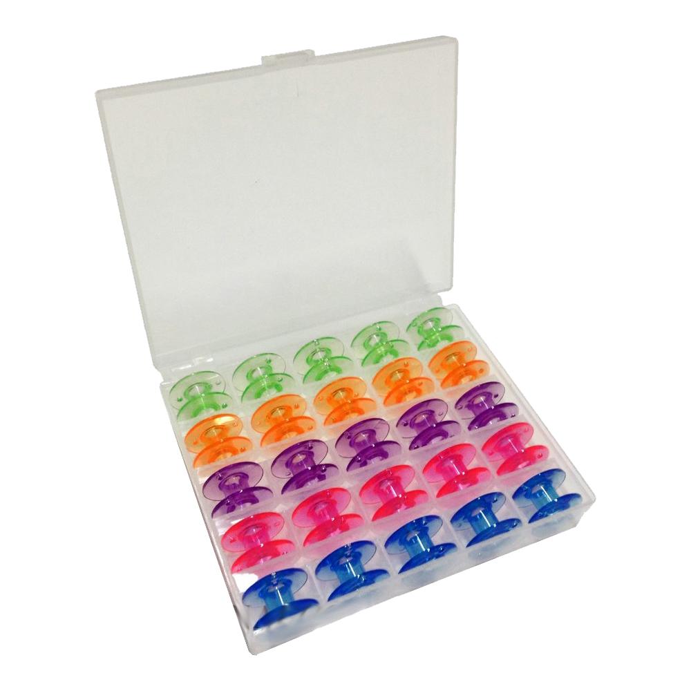 Box Com 25 Bobinas Coloridas